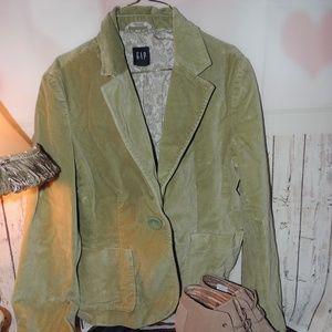 GAP velvet green blazer